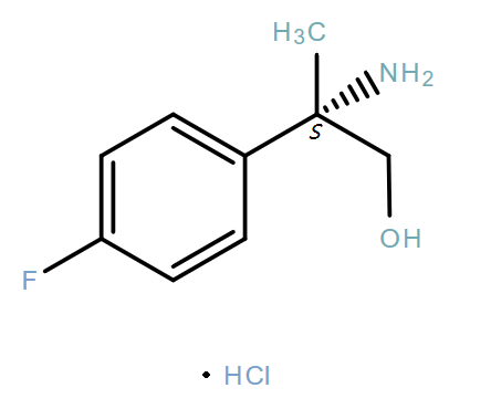 Benzeneethanol,β-amino-4-fluoro-β-methyl-,hydrochloride(1:1),(βS)-