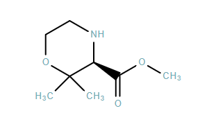 3-Morpholinecarboxylic acid, 2,2-dimethyl-, methyl ester, (3R)-