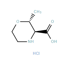 3-Morpholinecarboxylic acid, 2-methyl-, hydrochloride,(2R,3S)-rel-