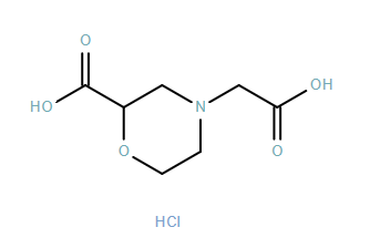 4-Morpholineacetic acid, 2-carboxy-, hydrochloride
