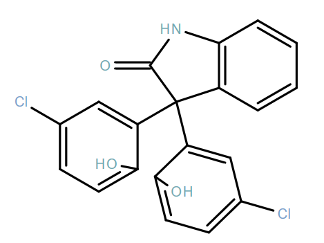 3,3-Bis(5-chloro-2-hydroxyphenyl)indolin-2-one